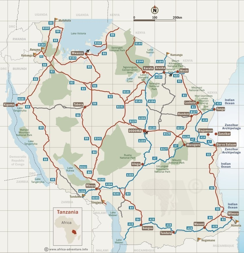 Tanzania Map & Destinations