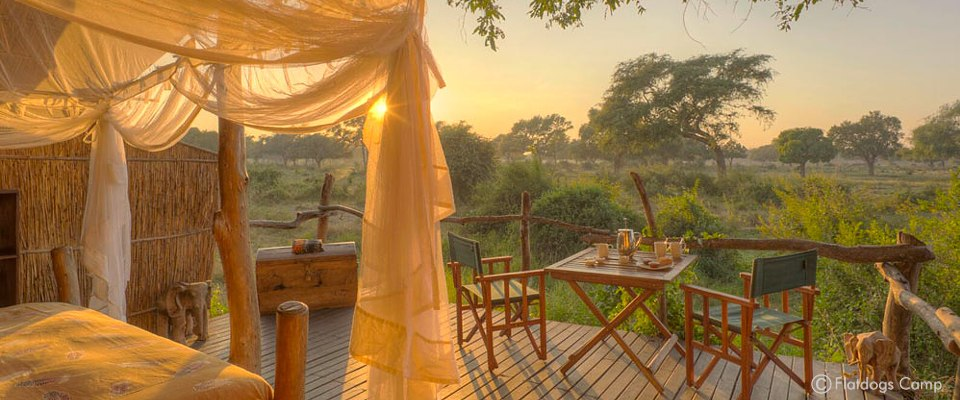 Flatdogs Camp and game lodge in South Luangwa in Zambia