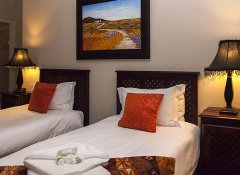 Twin room at Amani Guest Lodge in Port Elizabeth