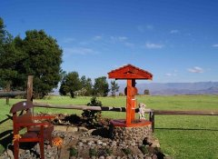 Vergezient Lodge views at Drakensberg Mountain Retreat