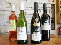 White, rosé and red wines at Dunstone Country Estate