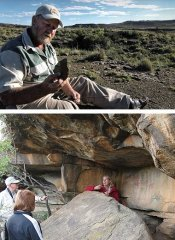 Fossils and bushman paintings at Ganora in Nieu Bethesda
