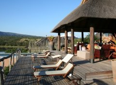 Lodge and pool at Pumba Private Game Reserve in Grahamstown
