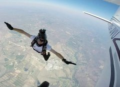 Skydiver with camera at Skydive Kruger in Hazyview