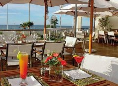Cocktails on the deck at The Beach Hotel in Port Elizabeth
