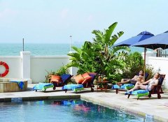 Relax at the pool at The Beach Hotel in Port Elizabeth