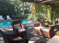 Pool at Tranquil House 121 Berry Street B&B in Komani